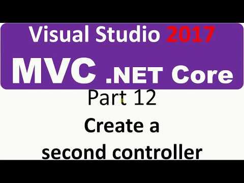 Visual Studio 2017 - MVC Core - Part 12 - Create a second Controller