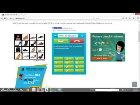 How to make free call from pc to mobile 100% working