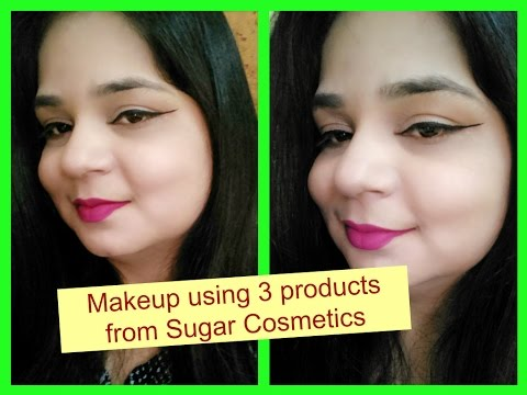 Makeup with 3 products   SUGAR COSMETICS   Angels reborn