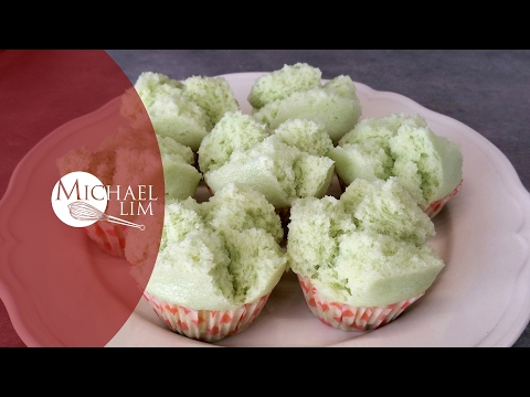 Steamed Pandan Cupcakes