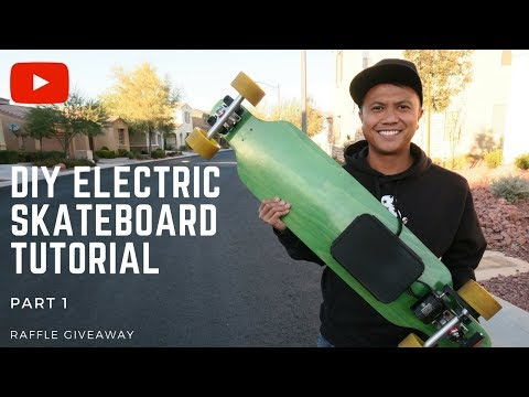 HOW TO BUILD A DIY ELECTRIC ⚡ SKATEBOARD TUTORIAL PART 1 - BETTER THAN A BOOSTED BOARD