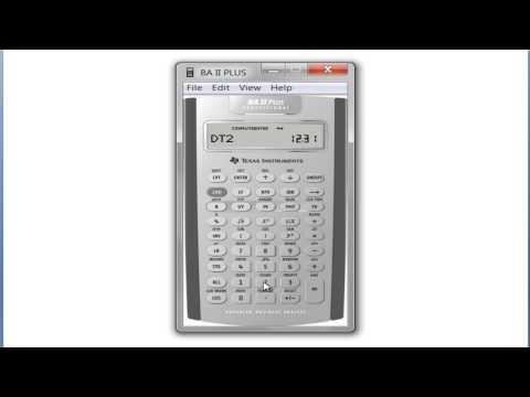 Date Worksheet on TI BA II Plus Calculator