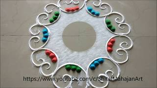 very easy and quick  festival rangoli designs|Diwali,Navratri Special Rangoli  Designs