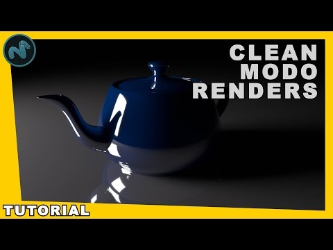 How To Get Clean Noise Free Renders In Modo - 3D Render Tutorial