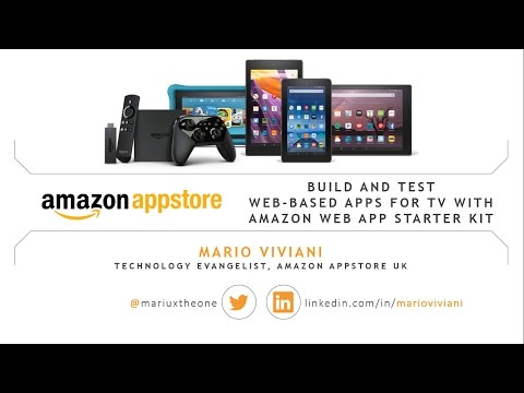 Tutorial: Build and Test Web-based Apps for TV using Amazon Web App Starter Kit