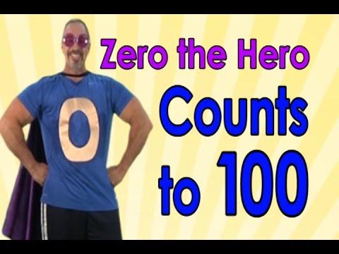 Zero The Hero | Count to 100 | 100 Days of School | Jack Hartmann