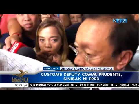 Duterte fires Customs deputy commissioner Prudente