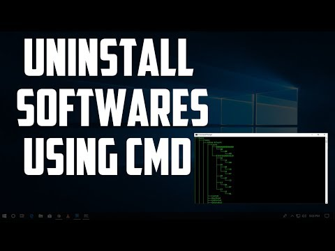 How To Uninstall Any Programs/Softwares Using CMD