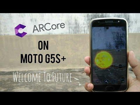 ArCore Demonstration On  Moto G5Splus