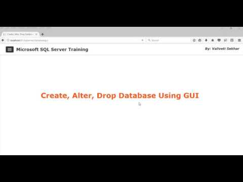 How To Create Database in SQL Server 2017 Management Studio