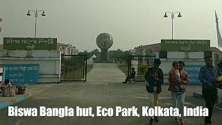 Biswa Bangla hut, Explore the rich culture of Bengal, Eco Park, Kolkata, India