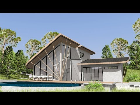 Sketchup - House building - Modern Cottage