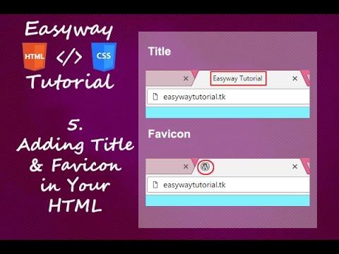 5. HTML & CSS Tutorial Adding Title and Favicon-hindi