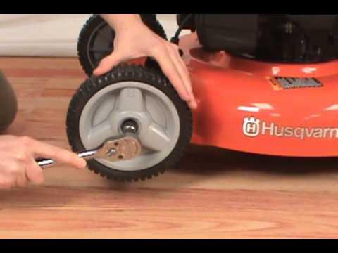 Replacing the Wheel - Husqvarna Lawn Mower