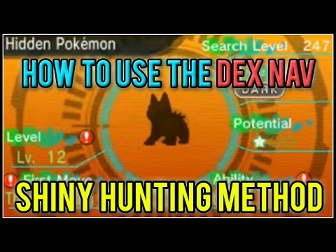 How to use the DexNav and DexNav Sneak Shiny Hunting Method Pokemon Omega Ruby and Alpha Sapphire