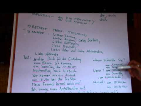 German Lesson: How to write a letter - Niveau A1