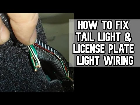 How to fix Tail Light and License Plate Light Wiring DIY Video PART 1