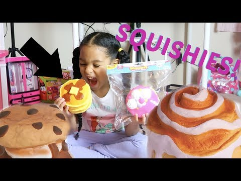 HUGE SQUISHY Package Unboxing!!!! + Shopkins SQUISHIES!!!! Squishy Collection!!!!