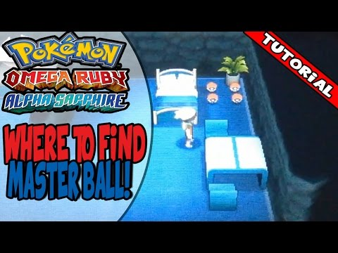 Where to get the Master Ball on Pokemon Omega Ruby/Alpha Sapphire