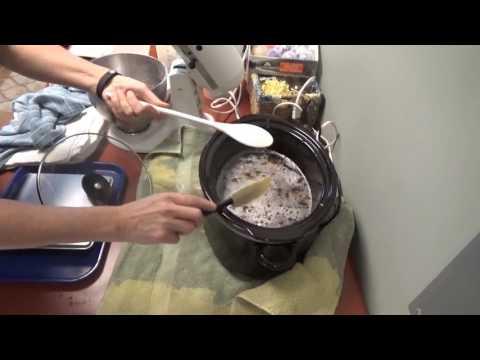 Making Liquid Soap Part 2 using Lard, Castor Oil, Coconut Oil, Lye, and Kombucha Tea