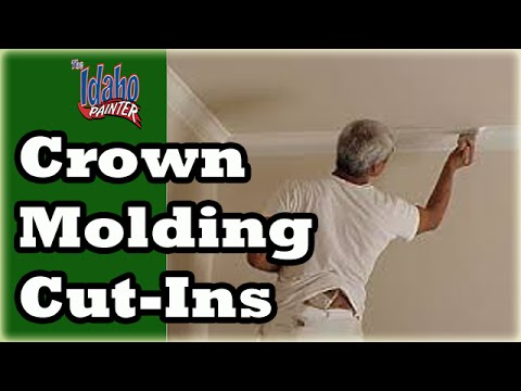 CEILING CUT IN TIPS.    Cutting In & Painting A Straight Line.  How to Hacks.