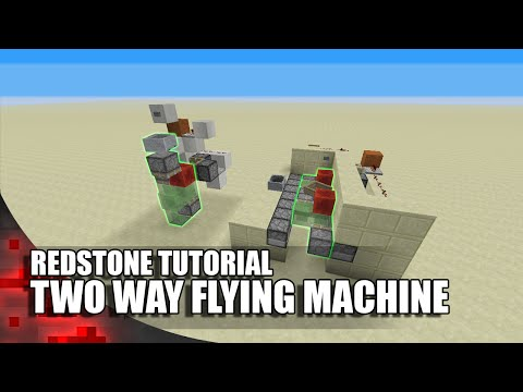 Minecraft: Two Way Flying Machine (Horizontal and Vertical)