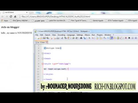 HTML CSS Tutorial 10 text align text indent and change background color