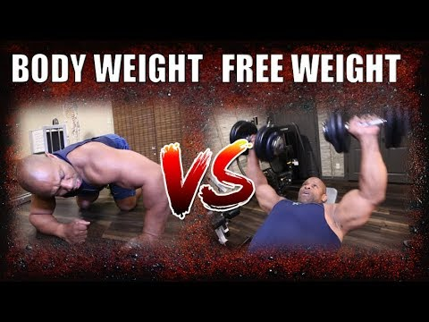 GROW A BIGGER CHEST: Body Weight vs. Free Weight