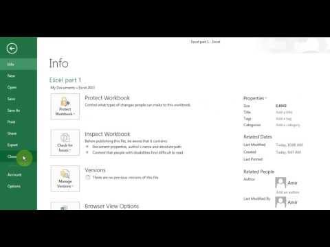 Microsoft Excel 2013/2016 pt 1 (Enter/Delete/Edit cells, Save, Open, Formula)