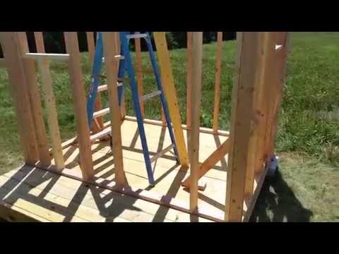 How to build a shed/playhouse chapter 2: framing.