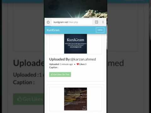 Instagram Auto Liker & Auto Follower | KurdGram Tutorial For Users 2017