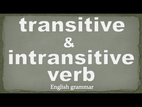 Difference between transitive and intransitive verb in English grammar | vt and vi