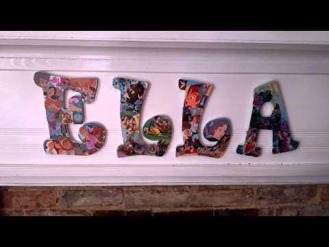 DIY How Mod Podge, Wooden Letters & Disney Go Together