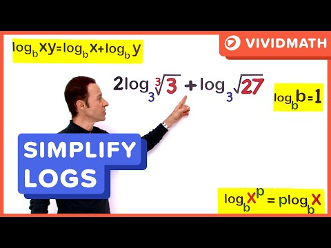 Simplyfing Logs With Square Roots - Logarithms