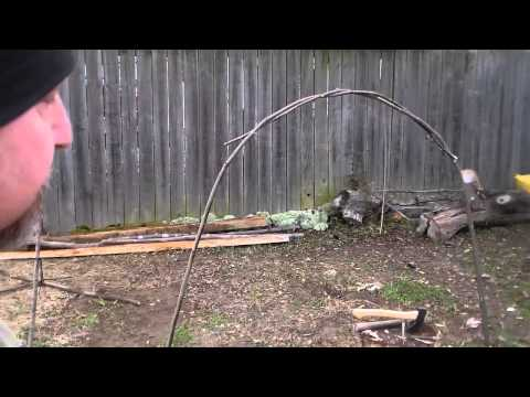 Copy of Backyard Bush-craft :Making a Bender shelter