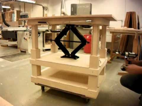 scissor jack table