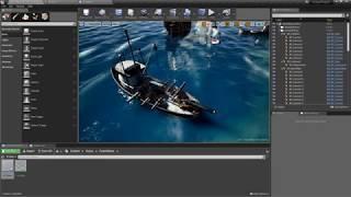 UE4 - WIP Community FREE Ocean Project - adding buoyancy to actors