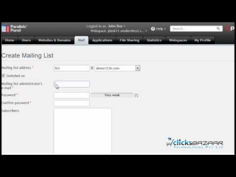 How to create mailing lists in Plesk