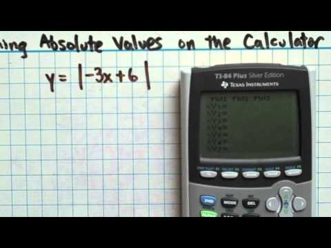 Graphing Absolute Values on the Calculator (2-6-4)