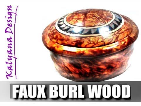 316 Polymer clay tutorial - faux burl wood jewelry box