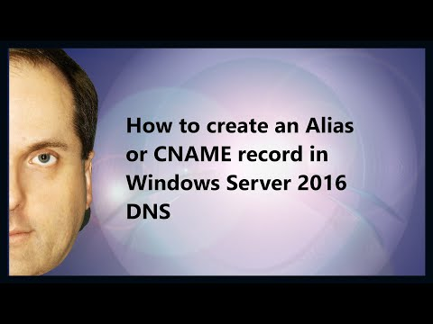 How to create an Alias or CNAME record in Windows Server 2016 DNS