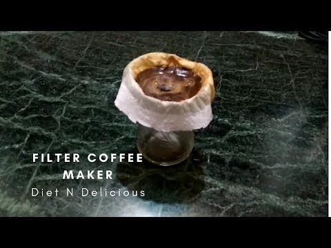 How To Make  Filter Coffee Without Coffee Maker   DIY  Homemade Filter Coffee