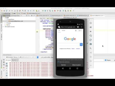 HOW TO LOAD a Web Page in an android Activity