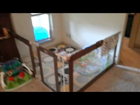 Jaxons play area in the living room