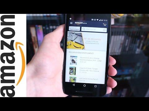 Comprando en la app de Amazon + Cupón de $5 USD