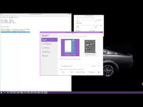 Windows 8  change size  (border,title),start button
