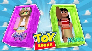 Minecraft TOYSTORE : THE STORE IS FLOODED!   Moana   w/LittleKellyandCarly (CustomRoleplay)
