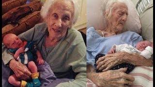 #x202b;صدّق أو لا تصدّق... عمرها 101 عاماً ووضعت طفلها الـ17   !#x202c;lrm;