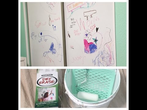 Creative way of applying whiteboard Dry Erase Paint