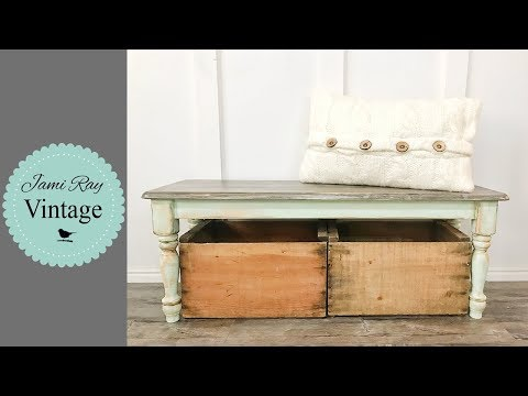 How I sell Farmhouse Furniture | Faux Finish On A Bench